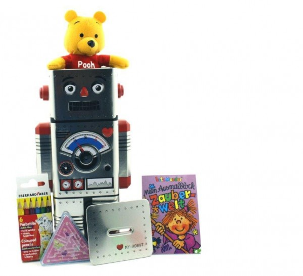 Happy Roboter / Mädchen und Jungen