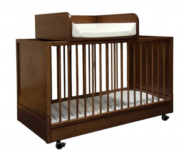 Wickelaufsatz für Klapp-Kinderbetten Walnuß