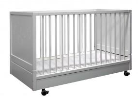 Kinderbett klappbar mit festem Lattenrost Weiß