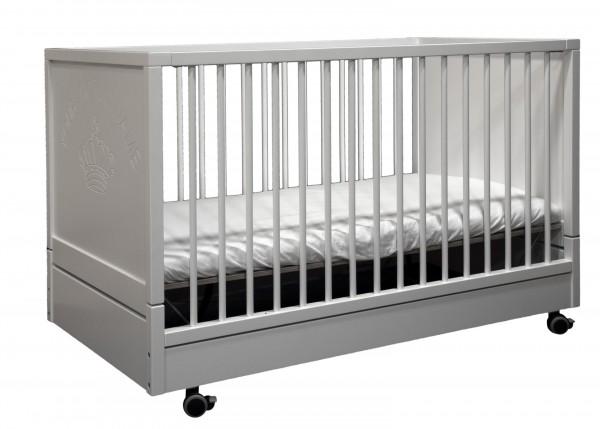 Kinderbett Klappbar mit verstellbarem Lattenrost Weiß