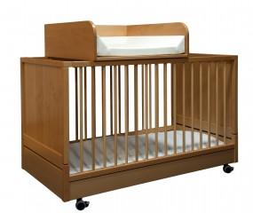 Wickelaufsatz für Klapp-Kinderbetten Natur