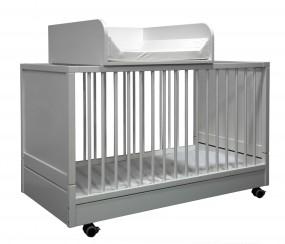 Wickelaufsatz für Klapp-Kinderbett Weiß